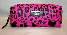 Victoria's Secret Zippered Cosmetic Bag Travel Pencil Case  - Pink Leopard Print