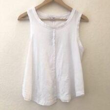 83b7367ec276e Splendid Sleeveless Muscle Tank Top Womens Size XS White Cotton