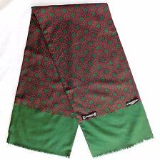 Vintage German scarf Edsor Kronen Crown hand printed pattern Grieskamp  Essen