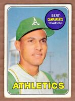 1969 Topps #495 Bert Campaneris Oakland Athletics Near Mint cond.