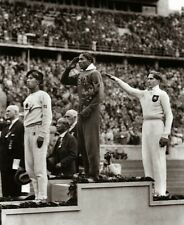 Jesse Owens 8x10 photo Jessie wins Olympic gold medal in Nazi Germany 1936