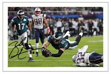 ZACH ERTZ PHILADELPHIA EAGLES SIGNED 6x4 PHOTO AUTOGRAPH PRINT NFL SUPERBOWL