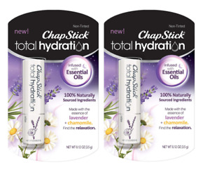 ChapStick  Lot of 2 Total Hydration Lavender + Chamomile Natural Essential Oils