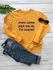 Unisex Spring/Fall Sweatshirts Funny Saying Long Sleeve Crewneck Pullover Leisur
