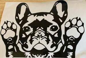 1x French Bulldog Frenchie Vinyl Sticker Car Camper Van Bumper 7x5in Black A2
