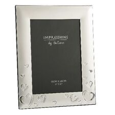 Personalised Silver Hearts Romantic Photo Frame Engraved Free