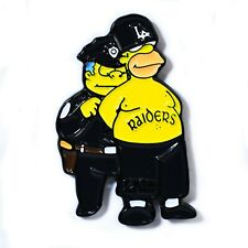 Los Angeles Raiders x Homer Simpson Gangster Collectible Pendant Lapel Hat Pin