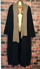 ANIMALE Open Front Extra Long Wool Blend Cardigan Colorblock Faux Scarf L (PLUS)