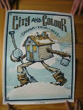 City And Colour Poster Silk Screen Canada Tour 2012 Munk One & Color