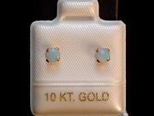 Opal Ohrstecker - 0,32 ct. - 4 mm - 10 Kt. Gold - 417 - Cabochon Cut - Ohrringe