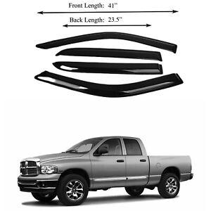 Fits Dodge Ram 1500/2500/3500 Quad CAB 2002-09 Window Vent Visor Rain Deflector