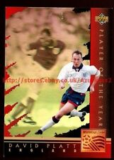 David Platt, Inghilterra, Giocatore dell' anno #WC 3 WORLD CUP USA' 94, (Eng / Ita) CARD