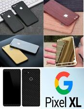 Textured Carbon Wood Chrome Skin Wrap Sticker Decal Case Cover Google Pixel XL