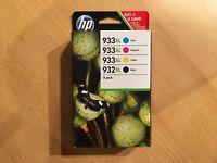 4 original HP 932XL Black 933XL Color C2P42AE Tintenpatronen 11/19 Rechnung MwSt