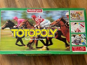 Vintage 1978 Totopoly Horse Racing Game Spare Pieces / Parts - Waddingtons