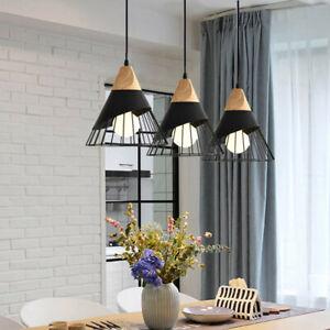 3X Black Pendant Lights Room Ceiling Lamp Bar Lighting Kitchen Chandelier Light