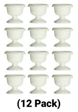 12 Inch Plastic White Grecian Urn Planter Flower Pot
