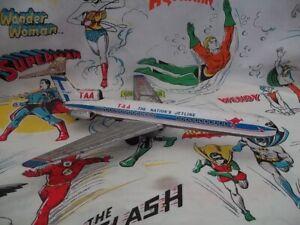 VINTAGE 1970's TAA TINPLATE BOEING 727-100 JET
