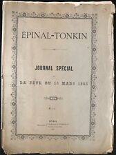 EPINAL-TONKIN JOURNAL SPECIAL DE LA FETE DU 15 MARS 1885