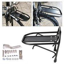 aluminio aleación bicicleta bici ciclismo parrilla delantera alforjas bolsa