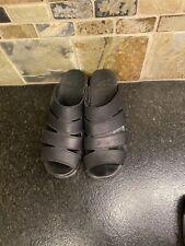 Womens Dansko Monika Oiled Black Sandals Shoes Size 40 (9.5-10)