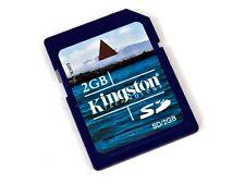 KINGSTON 2GB Full Size SD Card for Camera 3DS WII - UK SELLER