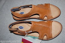Womens Shoes TAN SANDALS Leather Upper OPEN TOE Ankle Strap DR SCHOLL'S Size 11