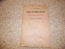 1881.Réforme des tarifs de chemins de fer.train.Louvard (envoi)