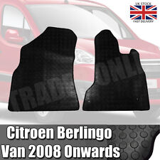 Citroen Berlingo Van 2008 On Heavy Duty Black Rubber Tailored Floor Mat Set Mats