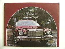 Brochure CHRYSLER USA 1975 CORDOBA the new small