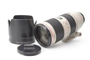 Canon EF 70-200mm F/2.8 IS II USM Lens - With Genuine Lens Hood & F/R Lens Caps