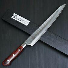 Japanese Sakai Takayuki Hammered Damascus VG10 Sujihiki Knife 240mm 07397