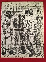 Marc Chagall,Wandering Musicians ,orig, Stone Lithograph,1963,Mourlot,
