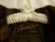 VINTAGE FORMAL FINE FUR: Schroeder & Taylor - Chicago Mink Stole Brown (S)