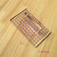 T Type Transparent Acrylic Stamp Pressure Clay Pottery Mud Plate Sculpture Tool