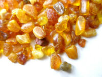 NATURAL POLISHED & RAW( MIX ) BALTIC AMBER SMALL PIECES 2 - 6 mm / 100 grams