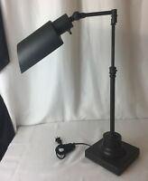 Vtg Antique Style Industrial Black Desk Lamp Drafting Table Student Swing-Arm