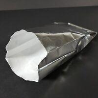 BAGCRAFT Foil Hot Dog Bags, 3-1/2 x 1-1/2 x 8-1/2, Silver, Qty = 1,000 Unprinted