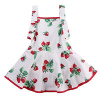 NWT Baby Girls White Strawberry Sleeveless Romper Dress 0-6 6-12 12-18 18-24 M