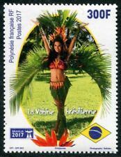 "FRENCH POLYNESIA ""BRASILIA-2017"" EXPO MISS HEIVA DANCER MNH"