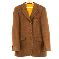 Harris Tweed 100% Laine Marron Veste Blazer Taille US/UK 40 Eur