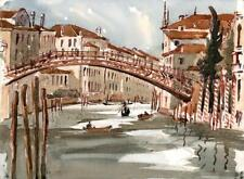 PONTE DELL'ACCADEMIA VENICE ITALY Watercolour Painting - 20TH CENTURY