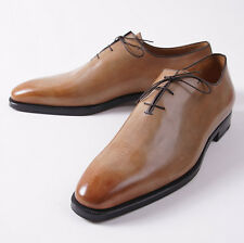 NIB $1295 SUTOR MANTELLASSI Antique Tan Calf Leather Wholecut US 17 D Shoes