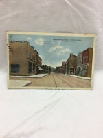 Vtg Postcard Merchant Street Looking East Scene Ambridge Pennsylvania PA 1927