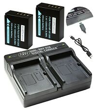 ecoEfficiency 2-Pack of NP-W126S Batteries and USB Dual Battery Charger for...