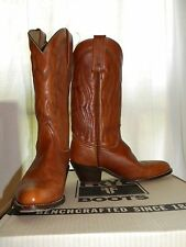 """EUC Womens Frye Cowboy Boots Size 7 Rust Color Heeled Western Riding 12"""" Shaft"""