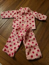 """Pajama Set Pjs For 18"""" Doll Fits American Girl Doll Unbranded pink polka dots"""
