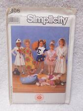 Simplicity 9306 Girls Costume Cosplay Nurse Cheerleader Bride  Sewing Pattern