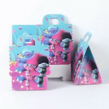 6 Pcs Set, trolls Candy/gift Boxes Kids Birthday Party Supplies
