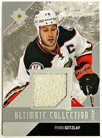 2014-15 UD Ultimate Collection Ryan Getzlaf GU Jersey #'d 7/99 Ducks #73